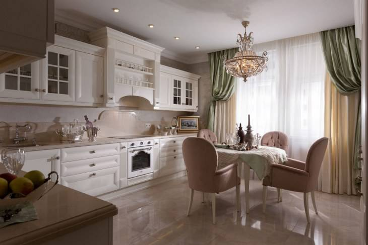 Кухни классика – фото дизайна интерьера классических кухонь