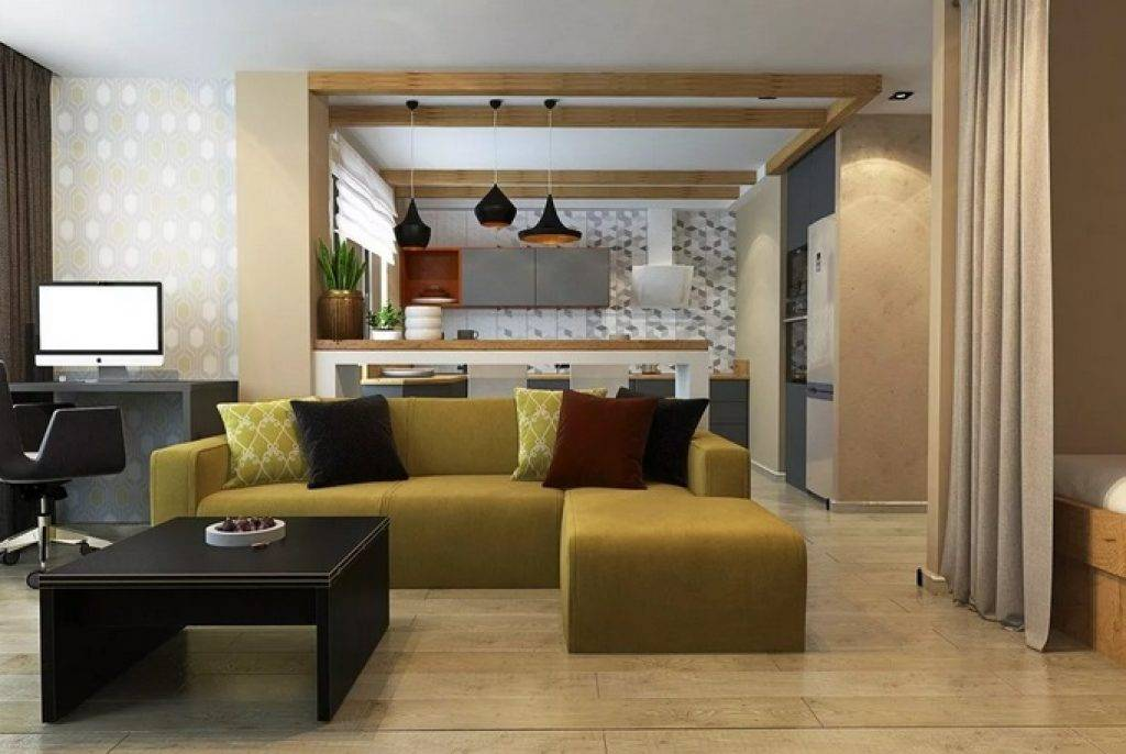 Удобная кухня-гостиная 20 кв. м: 3 дизайн-совета и фото