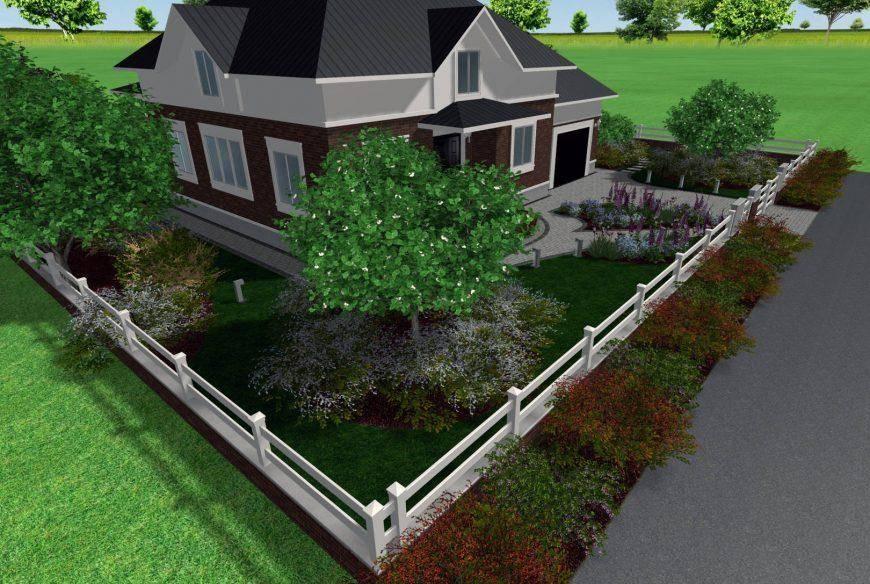 Участок 10 соток - планировка застройки и зонирование участка на хозяйственную и рекреационную.