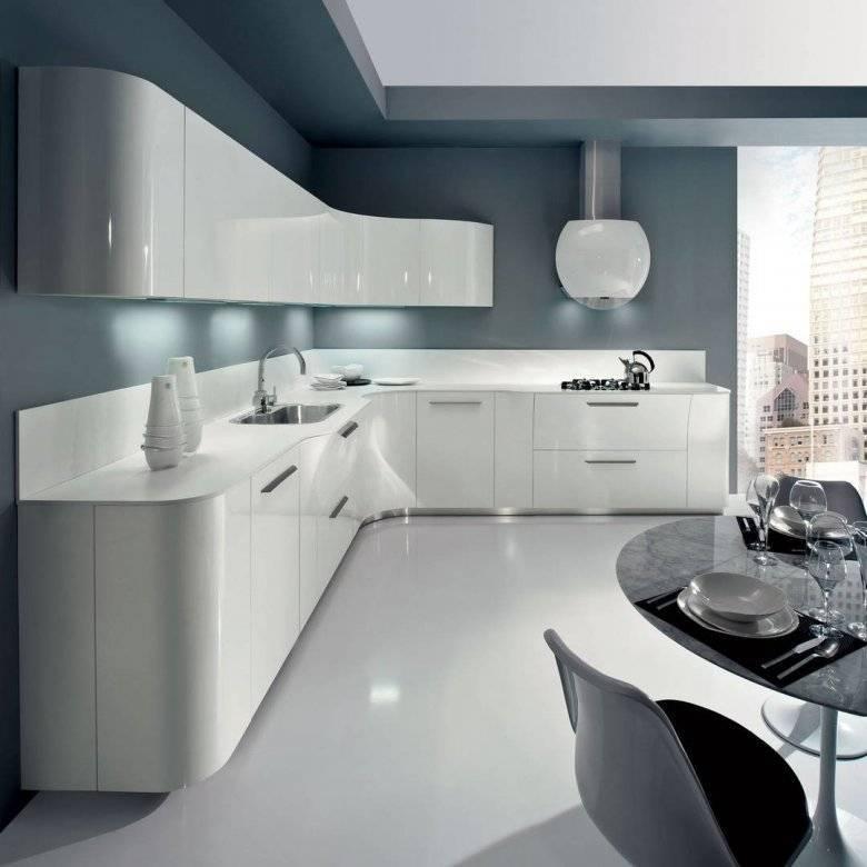 Белый цвет в интерьере современной кухни