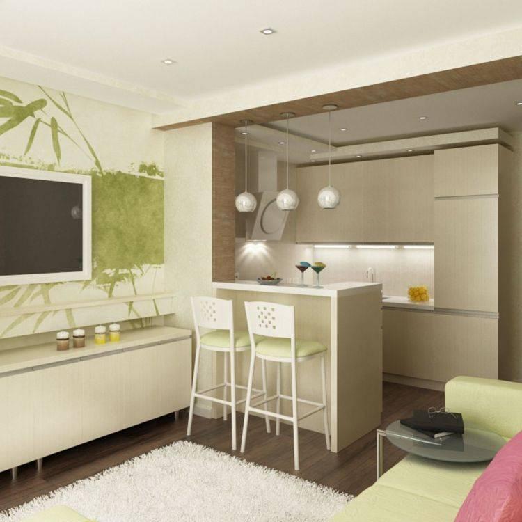 Дизайн кухни-гостиной площадью 16 квадратов