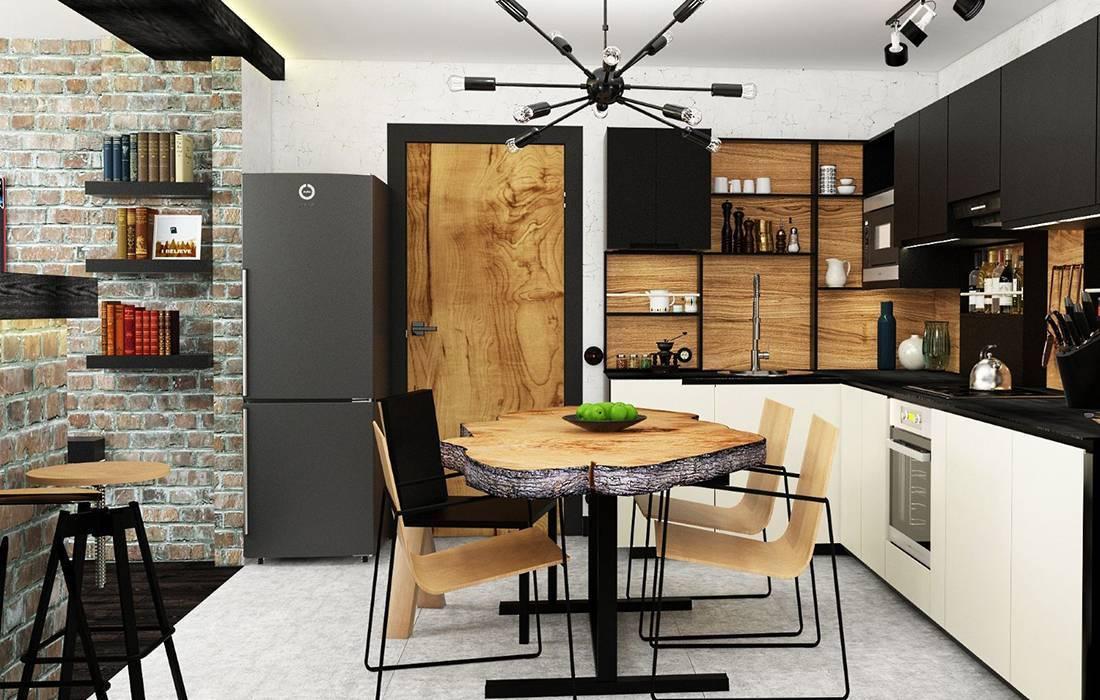 Стиль лофт в интерьере кухни: фото, в кухне-гостиной, в маленькой квартире, описание