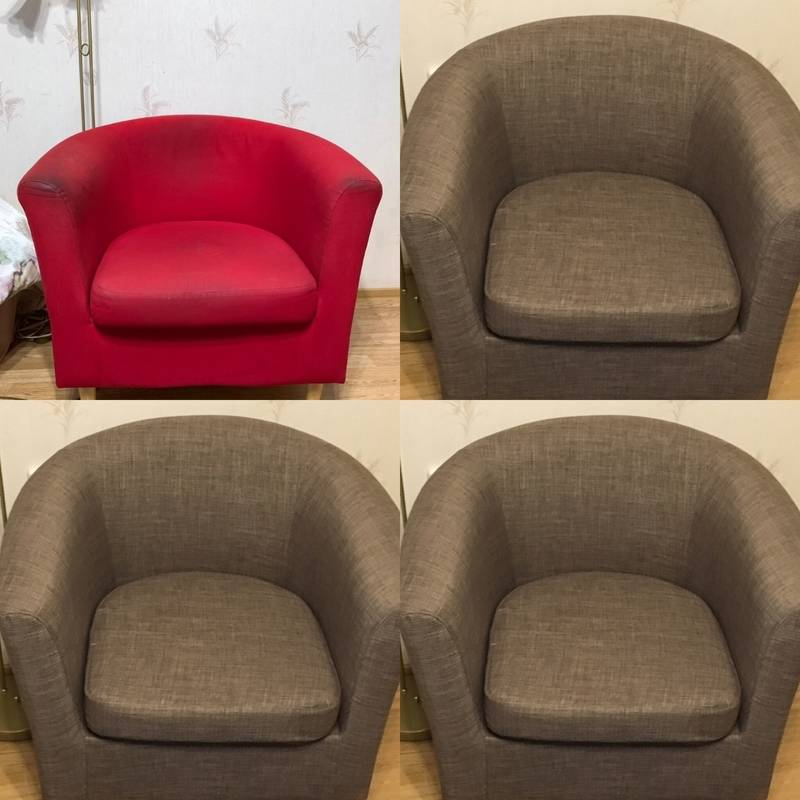 Как перетянуть кресло