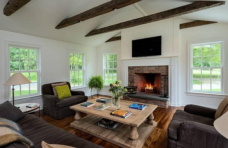 Кантри в гостиной: стилевые разновидности - 58 фото прмеров