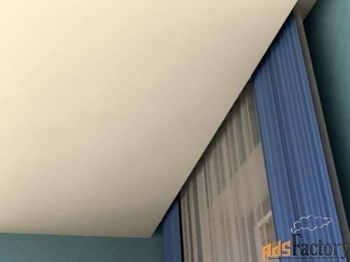 Нюансы конструкции – гардины для штор под натяжной потолок