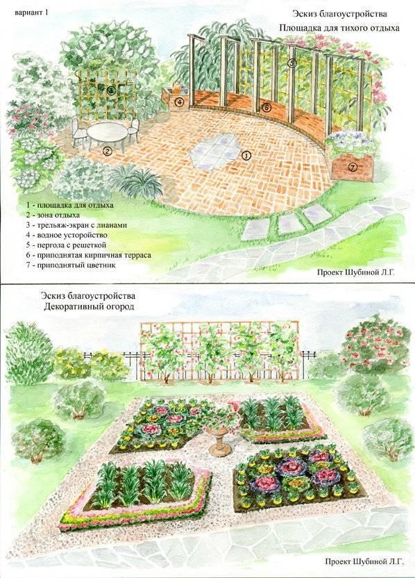 Планировка сада: 3 варианта на любой вкус