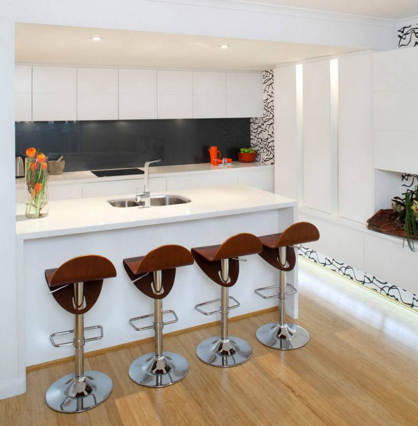 Кухни буквой п: 126 современных фото (с окном, барной стойкой)