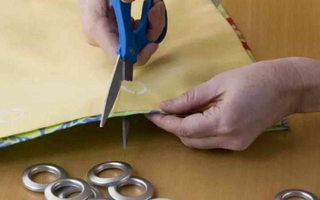 Как установить люверсы своими руками на ткани