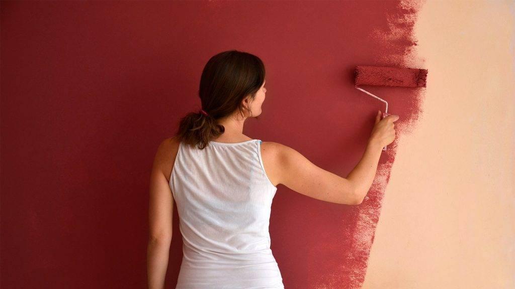 Как красить обои под покраску правильно и без разводов, виды, плюсы и минусы и др