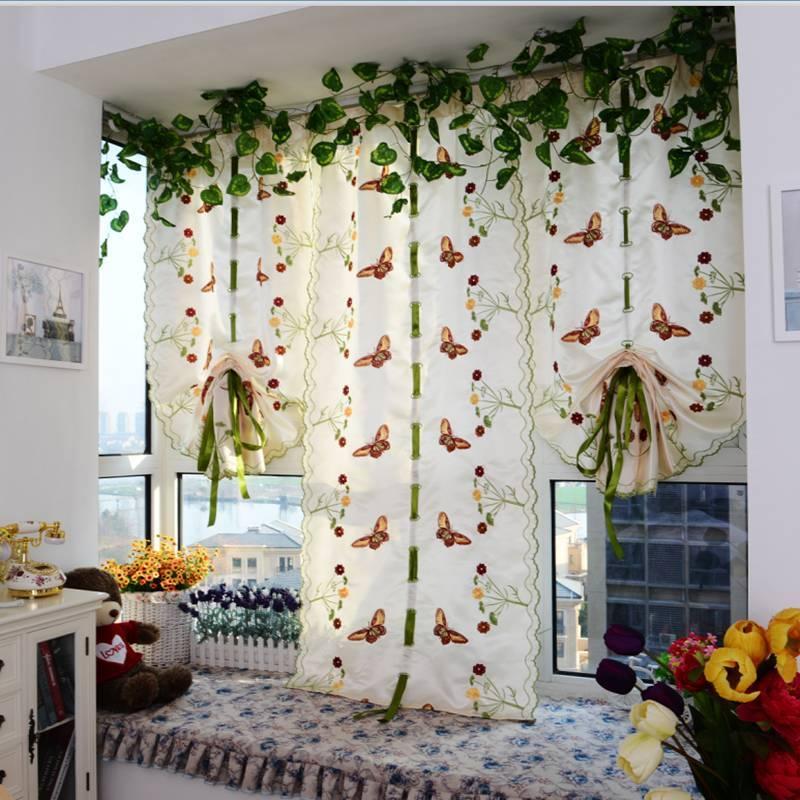 Красивое оформление окон со шторами: 30 фото