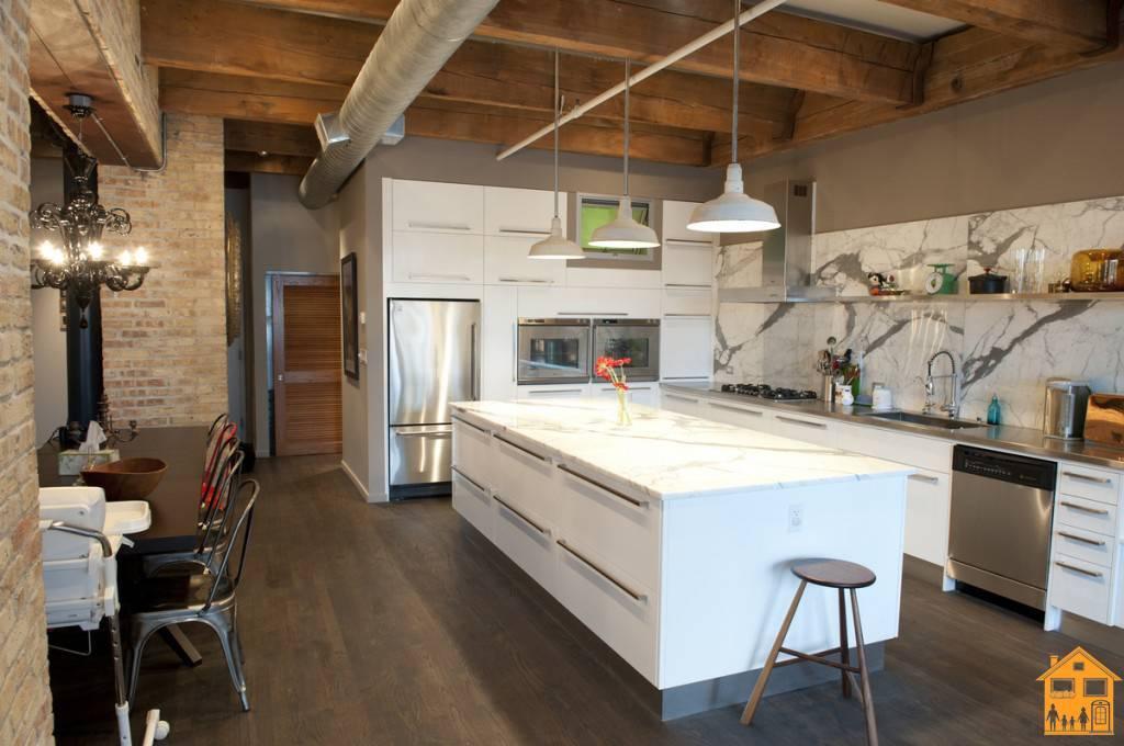 Кухни в стиле лофт: 255+ (фото) дизайна красивого интерьера
