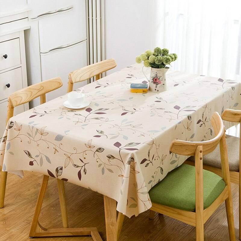 Какие размеры скатерти на стол бывают: стандартные, на книжку