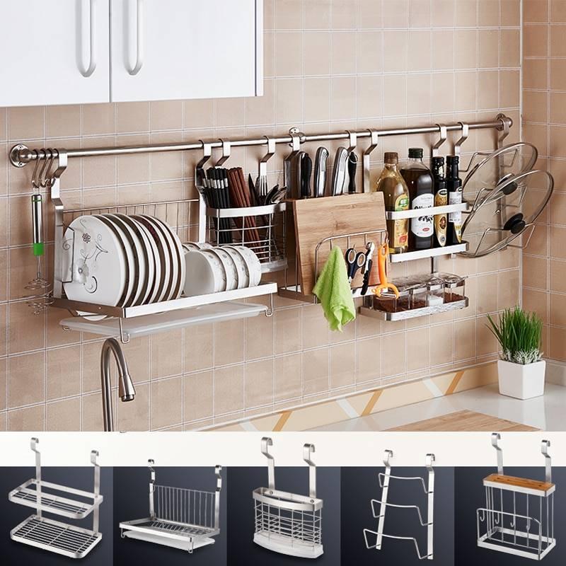 Красота и практичность: рейлинги для кухни (+40 фото необычных решений в интерьере)