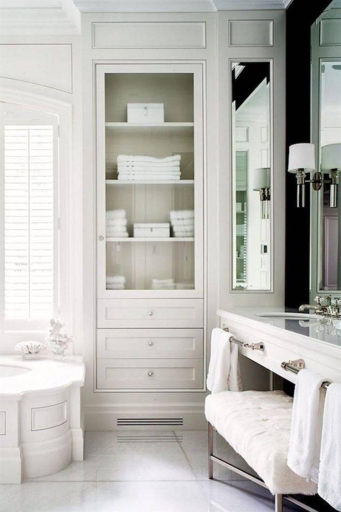Встроенный шкаф в ванной: шкаф-купе в ванную комнату, как он устроен, критерии и правила выбора