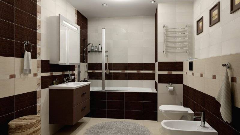 Коричневая ванная - выбор оттенка, стильные сочетания и идеи подбора оформления