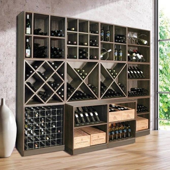 13 удивительных проектов для хранения вина, сделанные своими руками