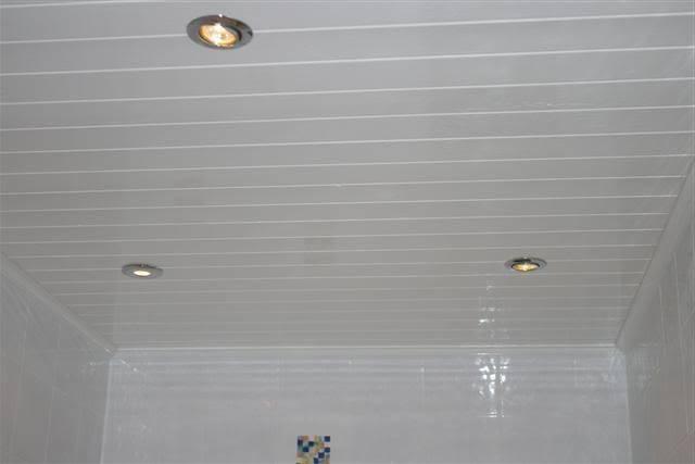 Панели на потолок в ванной: особенности материала