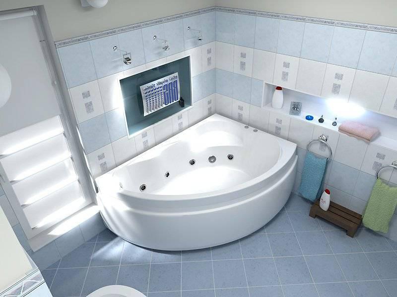 Ванная комната с угловой ванной: фото дизайна, интерьер маленькой комнаты без туалета, в панельном доме