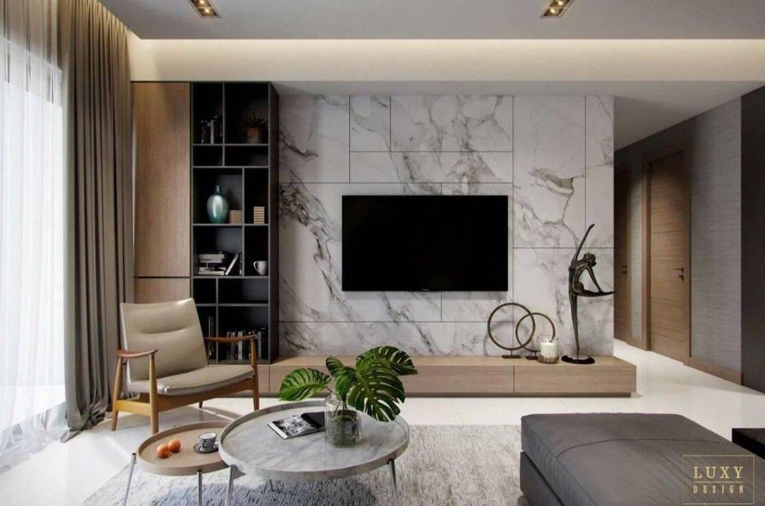 С чего начать оформление стены под телевизор в гостиной: 30 фото, вариантов и комбинаций
