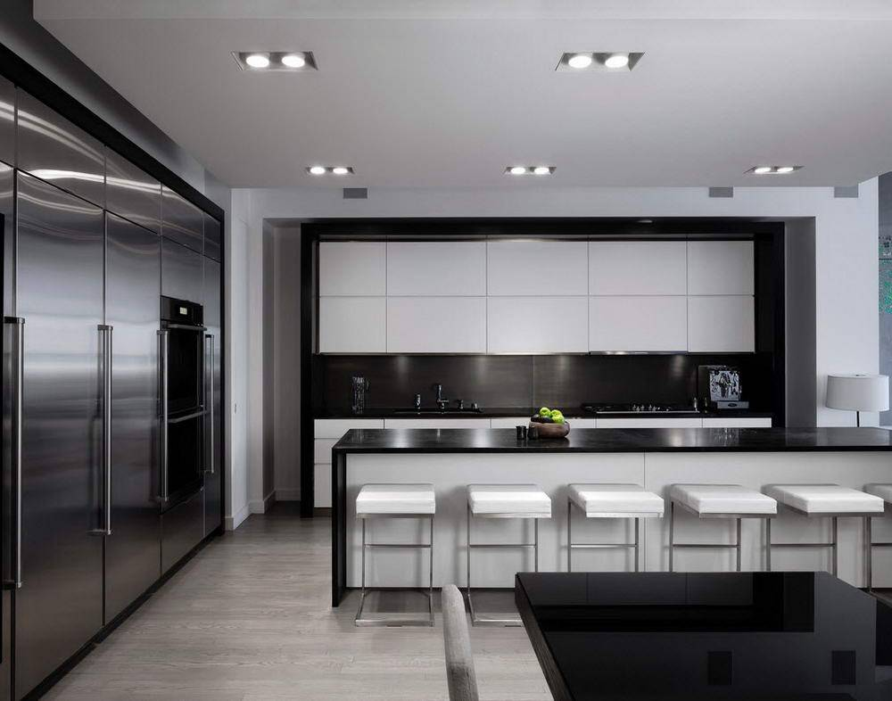 Идеи дизайна интерьера кухни в стиле хай-тек