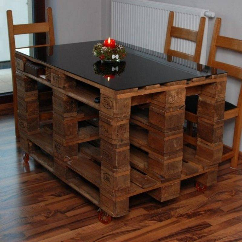 Мебель из поддонов - 115 фото с лучшими идеями мебели, как сделать своими руками