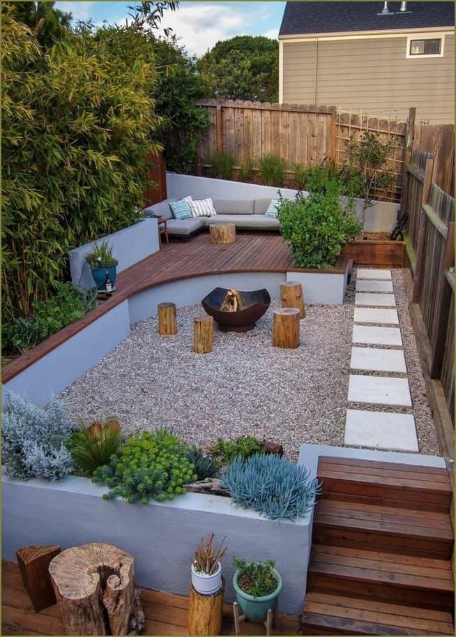 Дизайн двора частного дома – 40 фото современных дворов