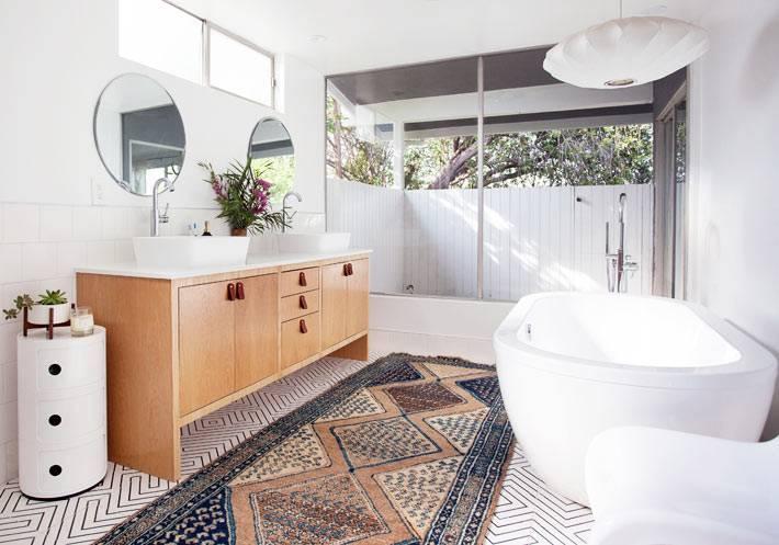 Белая ванная комната – фото оригинального и стильного дизайна