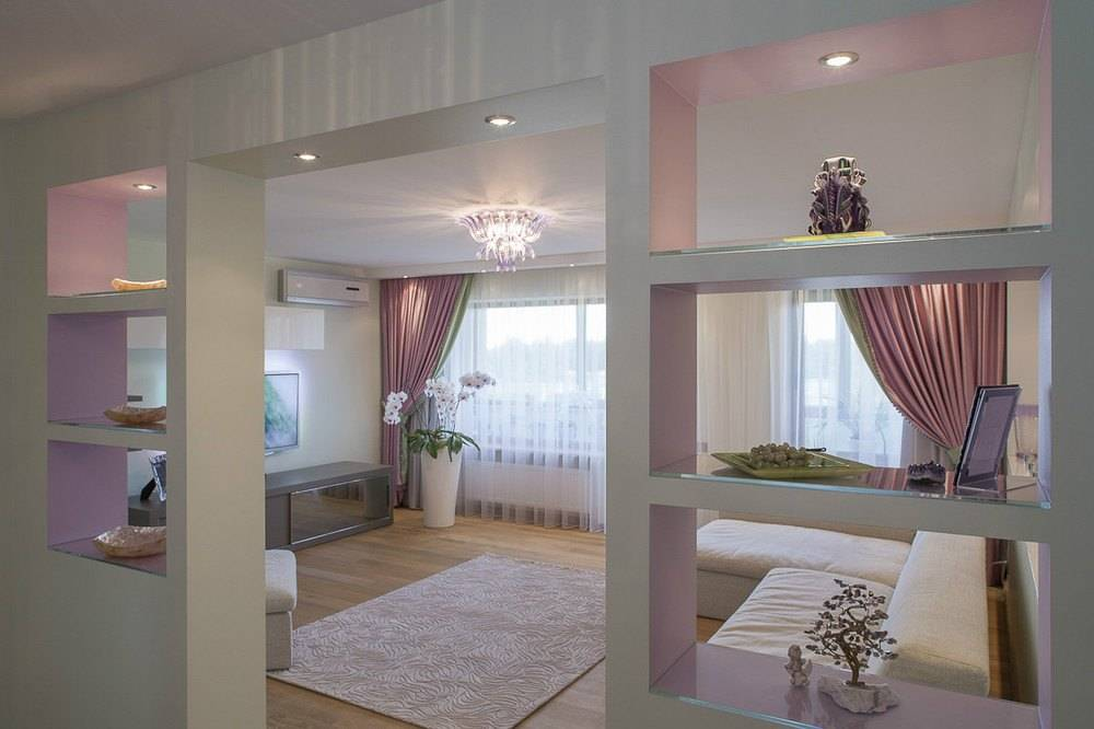 Гостиная и спальня в одном пространстве