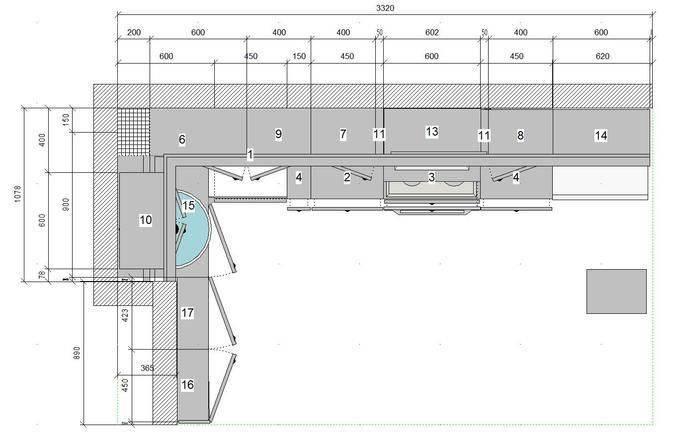 Планировка кухни с вентиляционным коробом в п44 – фото, идеи дизайна 8, 9, 10 и 12 кв. м