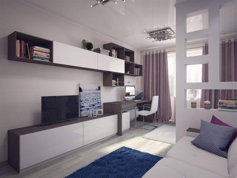 Вариации дизайна комнаты спальня-гостиная 18 кв.м. с фото