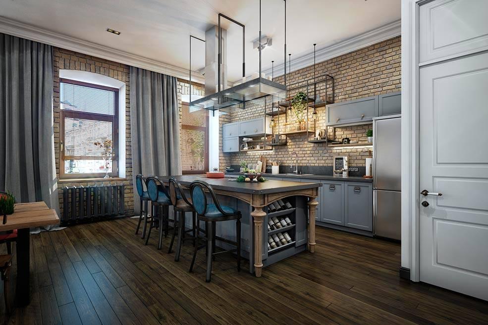 Маленькая кухня в стиле лофт: фото интерьеров, как сделать такой дизайн на небольшой площади в обычной квартире или студии, особенности оформления с примерами