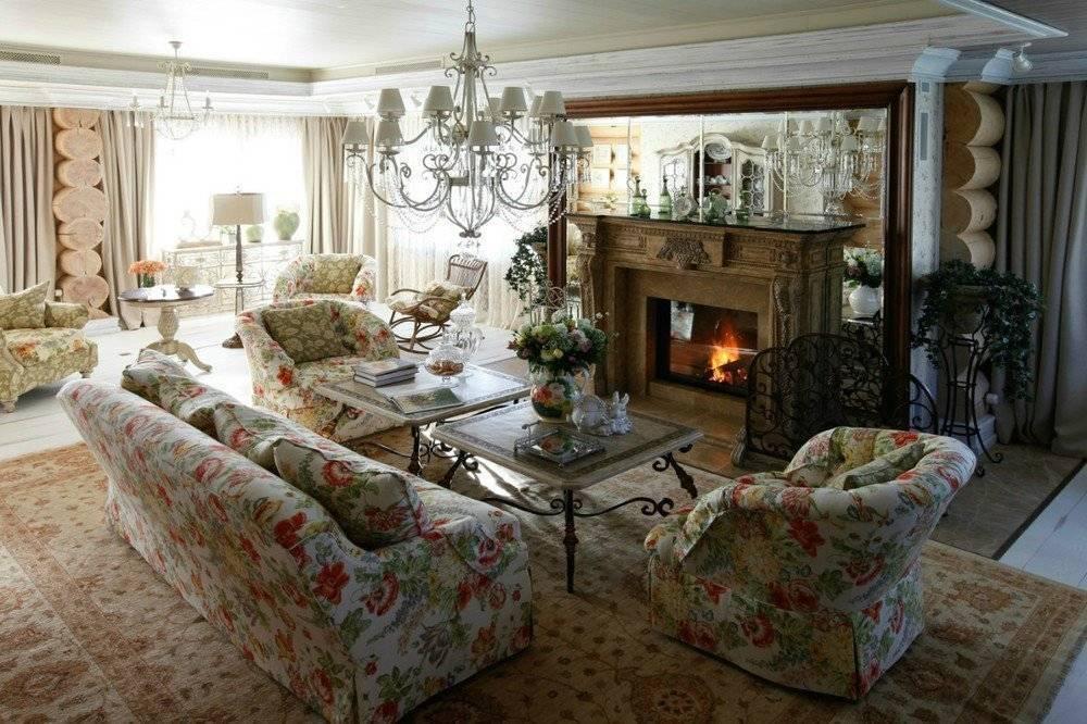 Особенности оформления интерьера гостиной в загородном доме