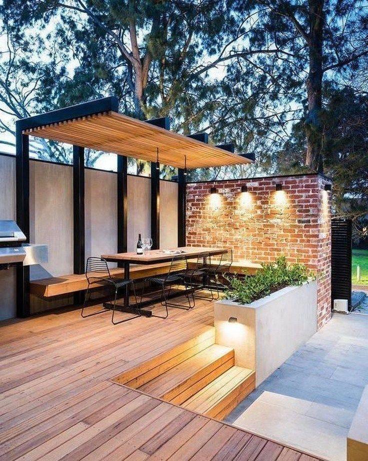 Красивые беседки во дворе частного дома: 100 фото идей