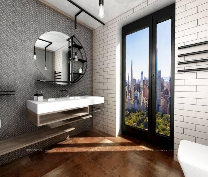Ванная комната в стиле лофт: основные черты стиля, материалы для отделки, выбор цвета и мебели