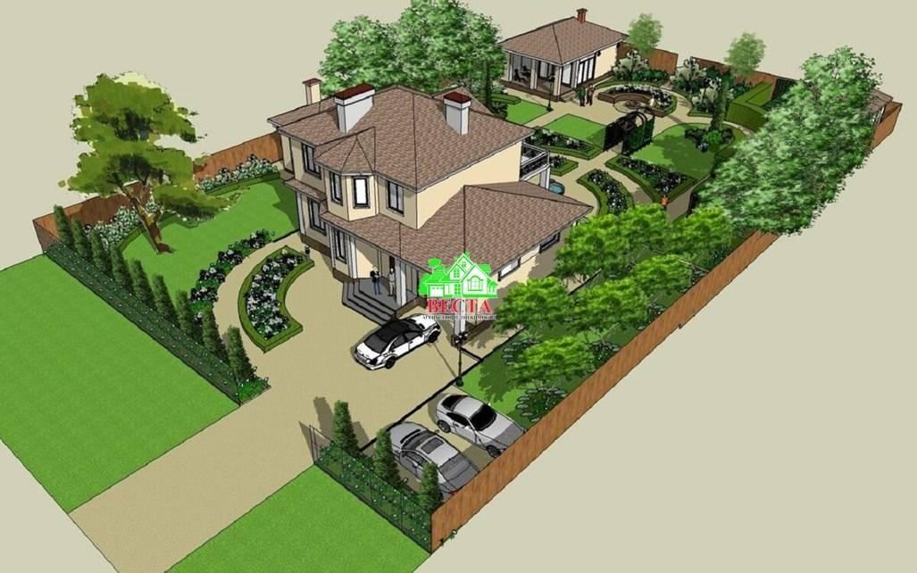 Ландшафтный дизайн дачного участка 10 соток своими руками: фото образцовых проектов