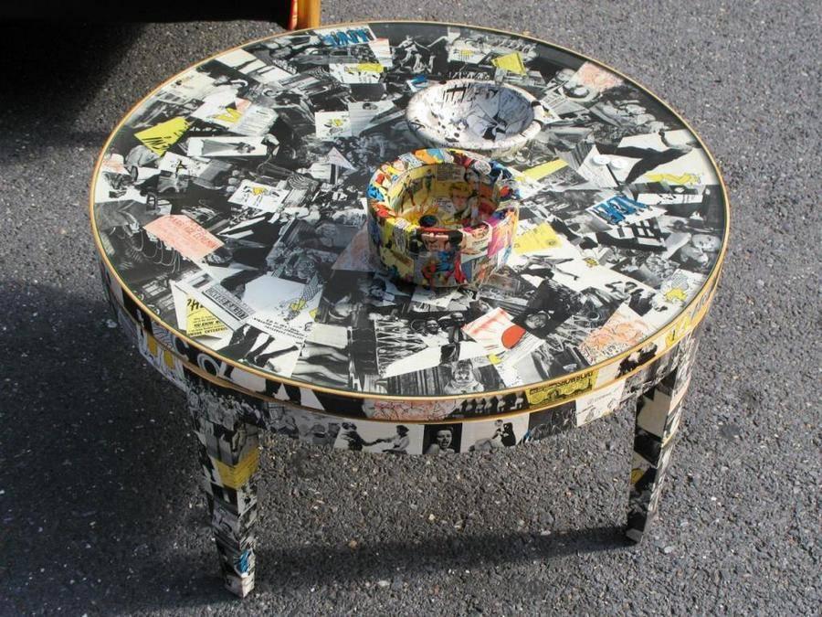 Декор журнального столика своими руками: декупаж, как декорировать журнальный столик, декорирование, фото