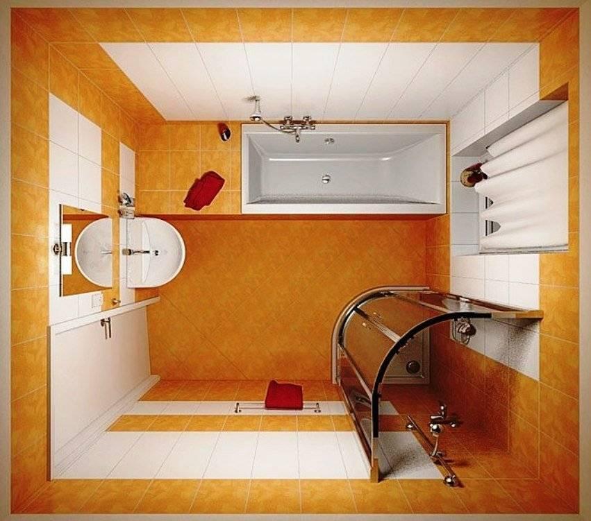 Ванная комната 2 на 2: дизайн, планировка, проекты - 33 фото