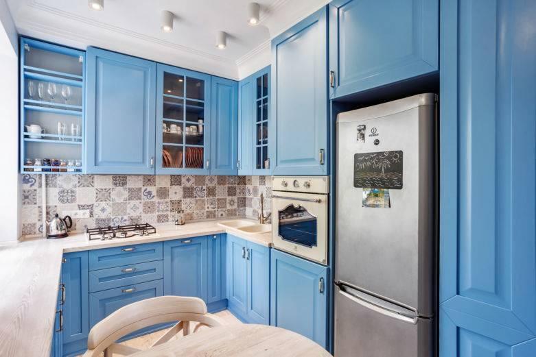 Синяя кухня: достоинства и недостатки, сочетание цветов, реальные фото