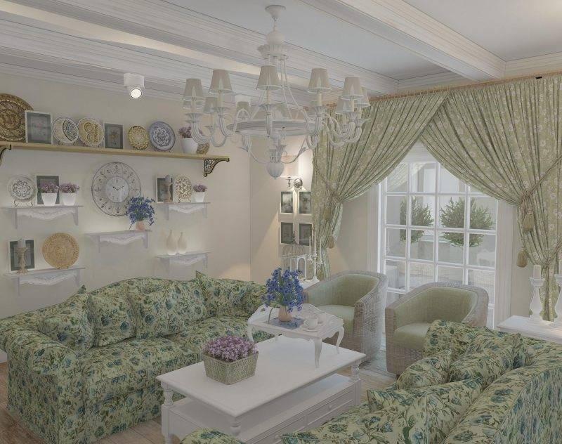 Гостиная в стиле «прованс»: примеры оформления (83 фото): ремонт маленького зала в стиле «классика», дизайн интерьера