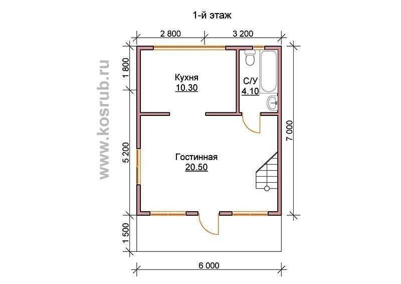 Дом 6 на 8 — современные проекты, обзор актуального дизайна и варианты планировки маленьких домов и коттеджей (110 фото)