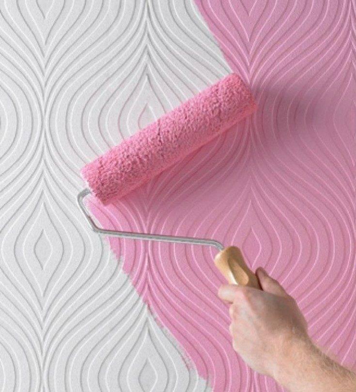 Покраска обоев: пошаговая инструкция