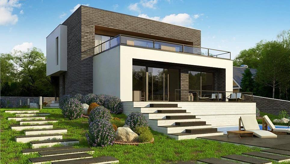 Дома с плоской крышей: особенности применения, современные конструкции и 130 фото лучших проектов
