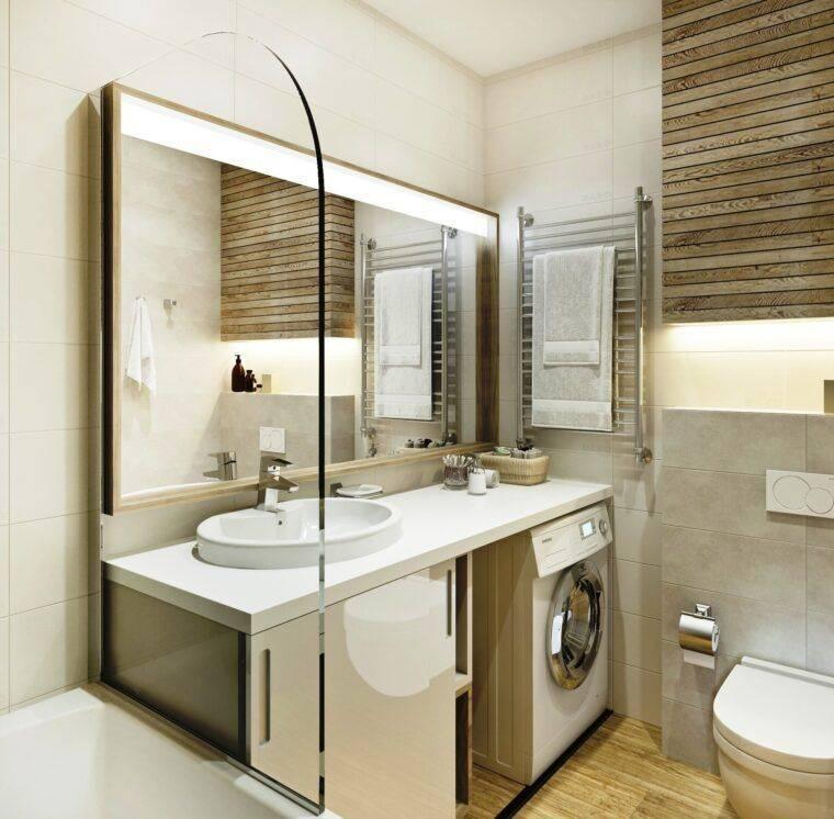 Потрясающие идеи дизайна маленькой ванной комнаты площадью 3 кв. метра (+51 фото)