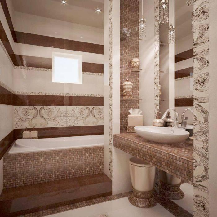 Бежевая ванная - 105 фото стильных вариантов оформления