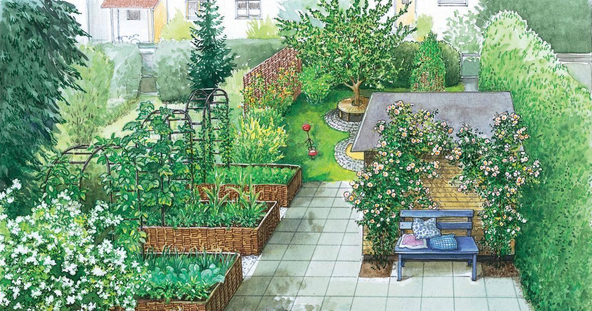 Планировка огорода и плодового сада: от чертежа до высадки культур в примерах