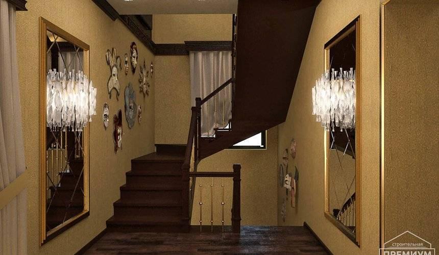 Дизайн холла в частном доме с лестницей