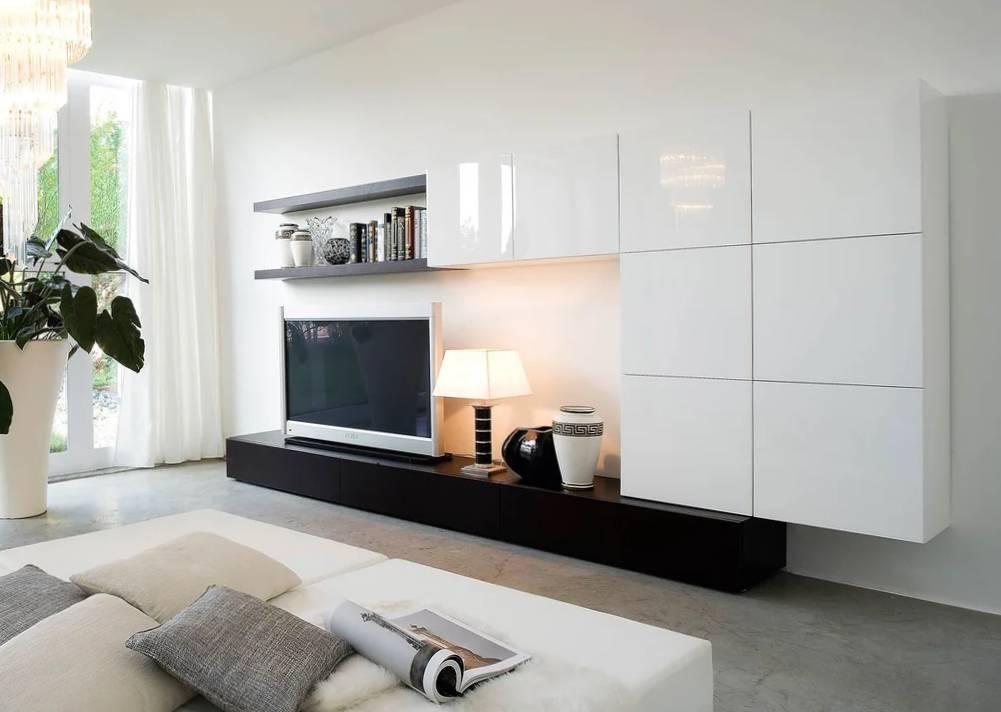 Глянцевая мебель в гостиную: белая и черная, серая и другая глянцевая мебель в современном и другом стиле в зал