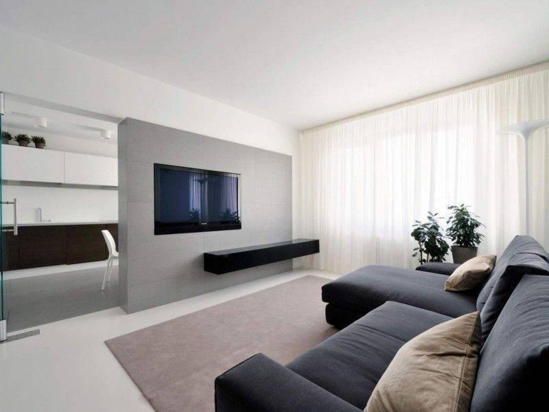 Интерьер и дизайн гостиной в стиле минимализм | идеи обустройства на фото