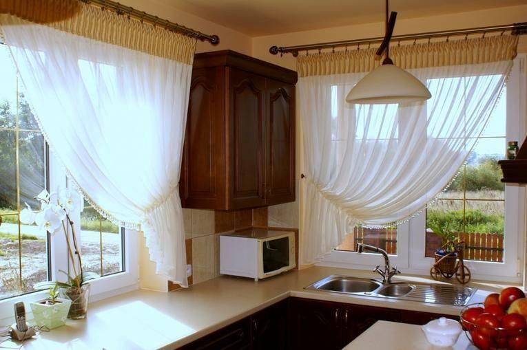 65 вариантов дизайна кухонных занавесок
