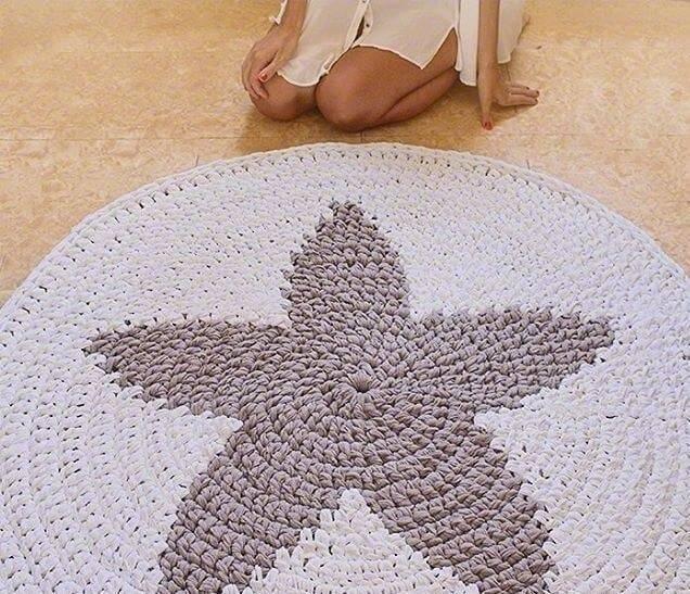 Вязаные коврики крючком: пошаговая инструкция для начинающих